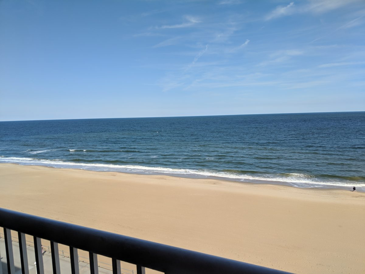 View from oceanfront room at Country Inn & Suites Virginia Beach
