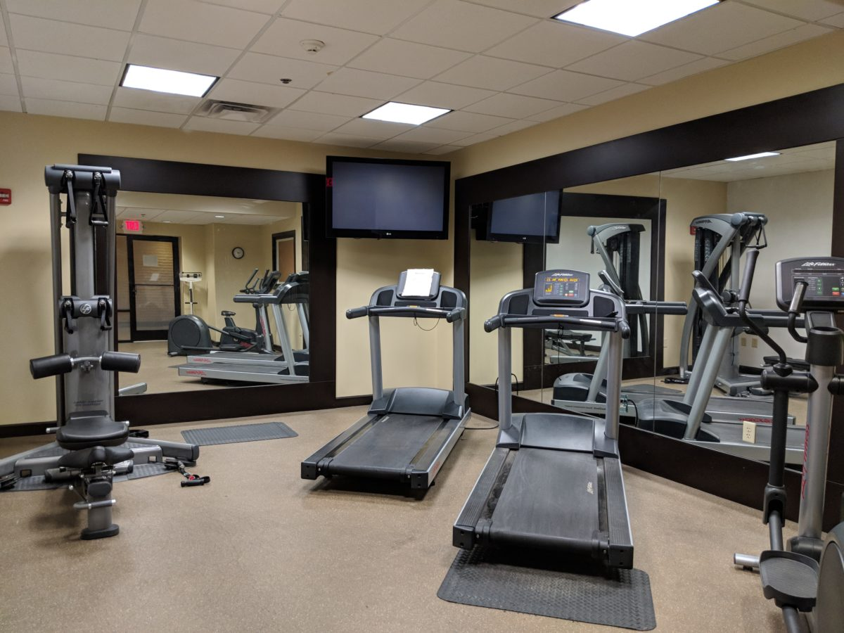 Work out in the fitness center at oceanfront hotel in Virginia Beach