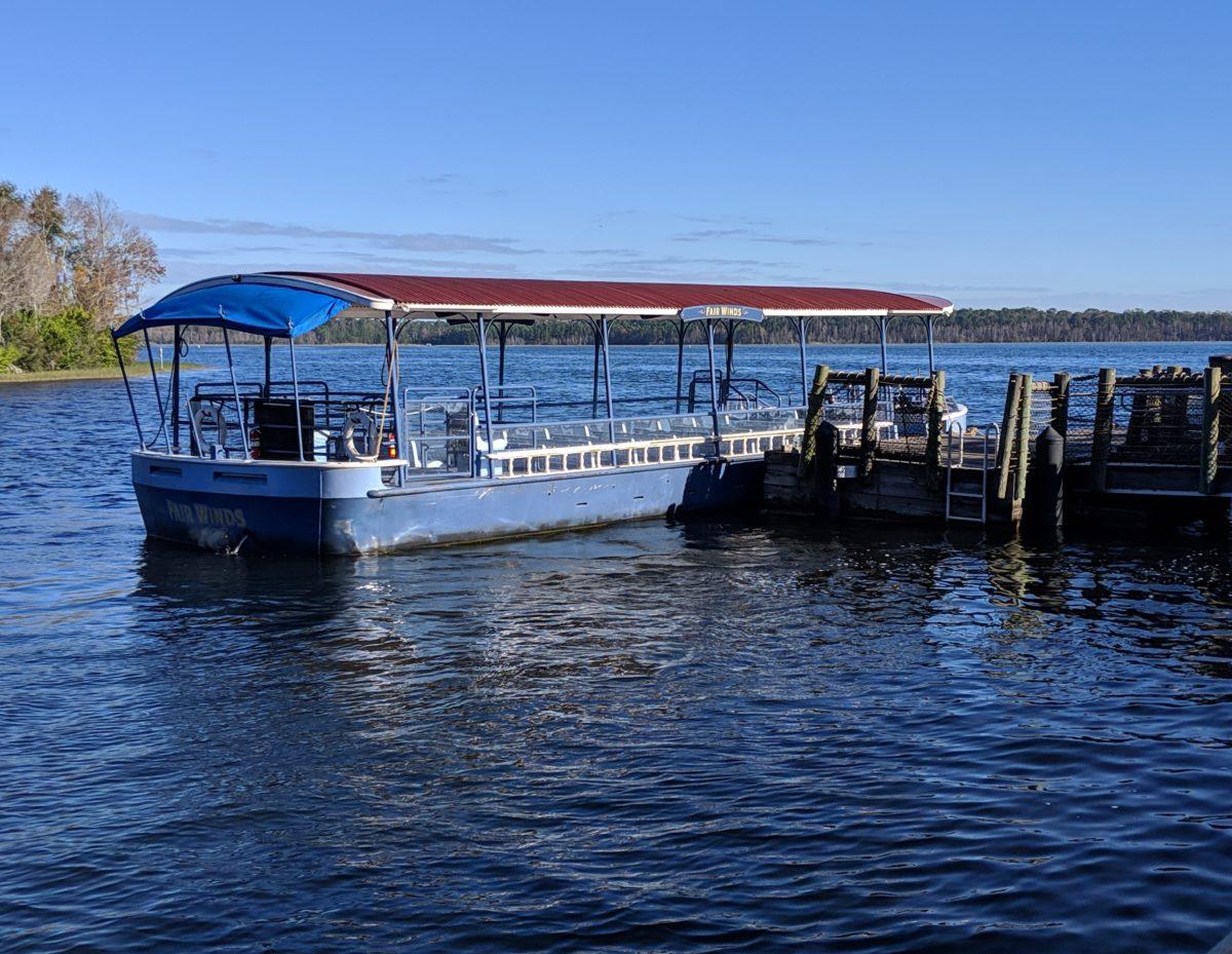 Boat transportation at Wilderness Lodge at Disney World