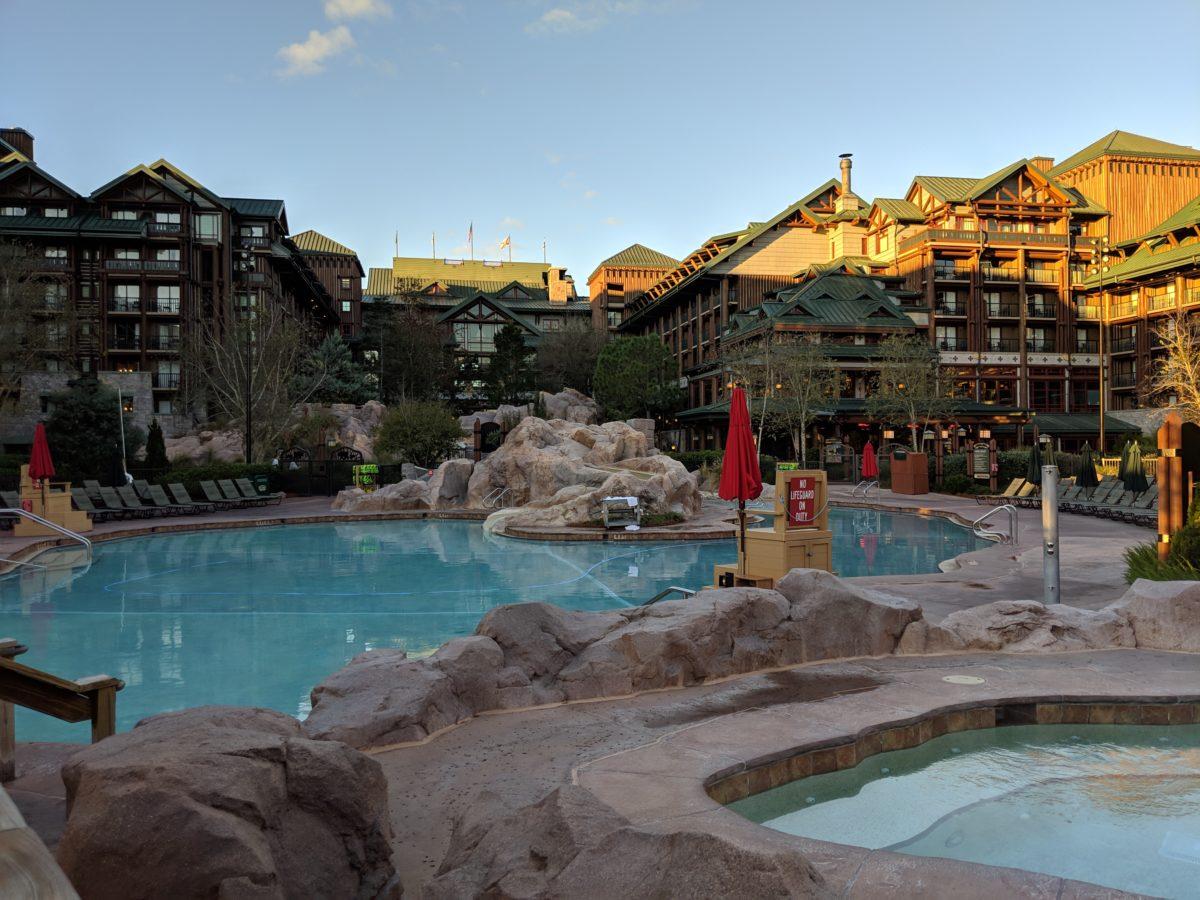 Disney's Wilderness Lodge has great pool complex