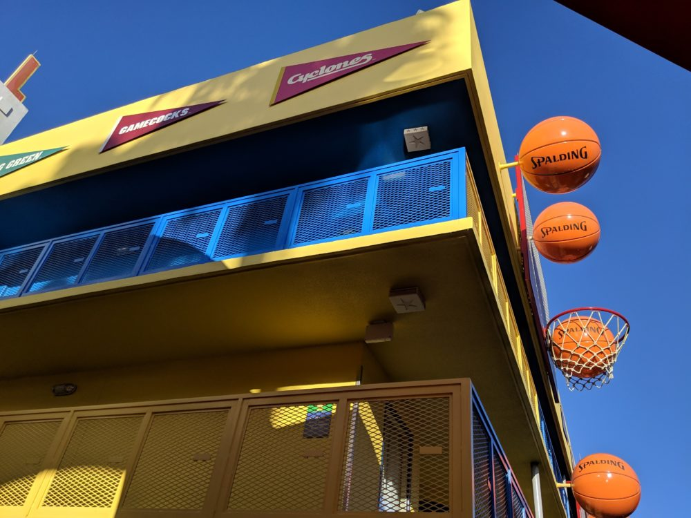 Disney's All Star Sports Resort has basketball section with college teams