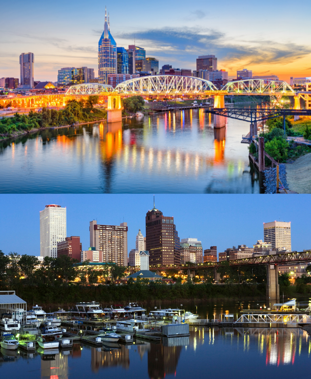 Picture of Nashville & Memphis. Get rates as low as $35.71 for Woodspring Hotels in Tennessee.