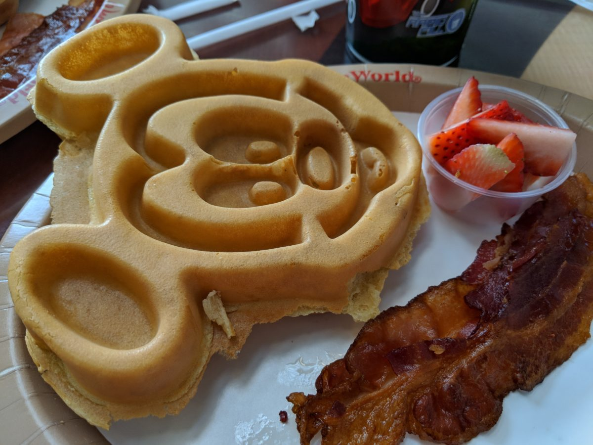 Delicious breakfasts with Mickey Waffles are available at Contempo Cafe at Contemporary Resort in Disney World