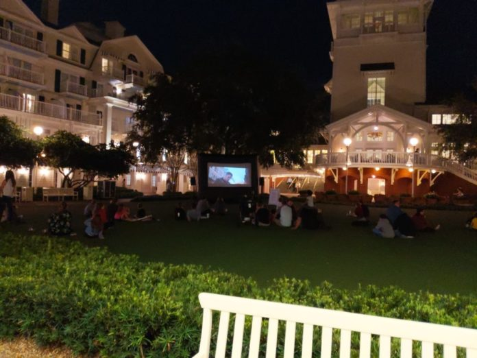 Movie Under the Stars at Boardwalk hotel at Walt Disney World is in a beautiful location