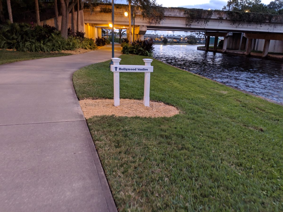How to walk to Hollywood Studios in Disney World from Boardwalk hotel