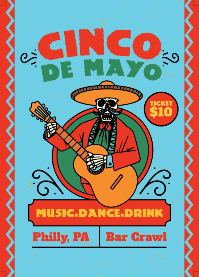 cinco de mayo bar crawl in Philadelphia Pennsylvania