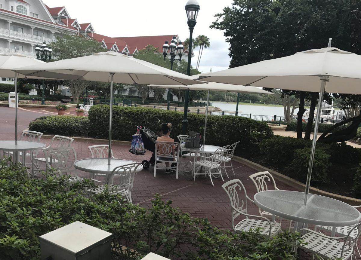 Eat outside at Disney's Grand Floridian Resort in Orlando Florida
