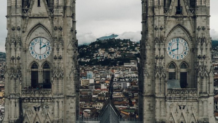 A picture of Quito, Ecuador. Find out how to book hotels there for less than $100/night