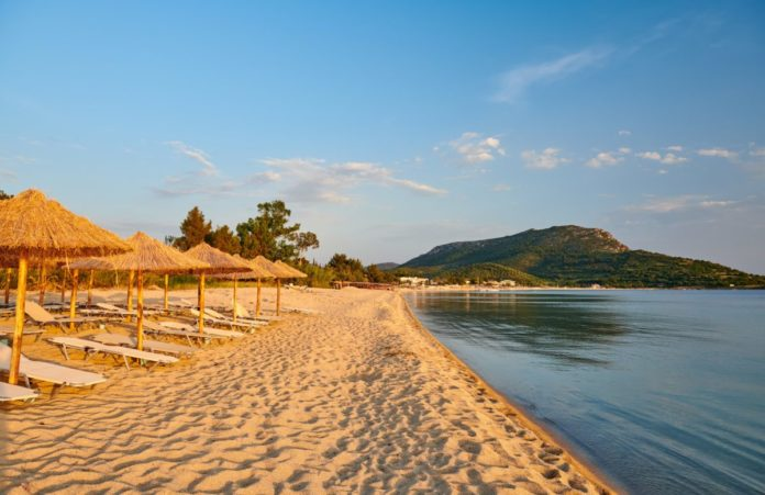 A picture of a Beautiful beach in Toroni, Sithonia, Greece. Find out what the best Torini hotels are