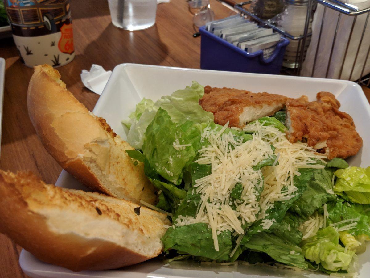 Cabana Bay Beach Resort at Universal Florida has delicious food like salads