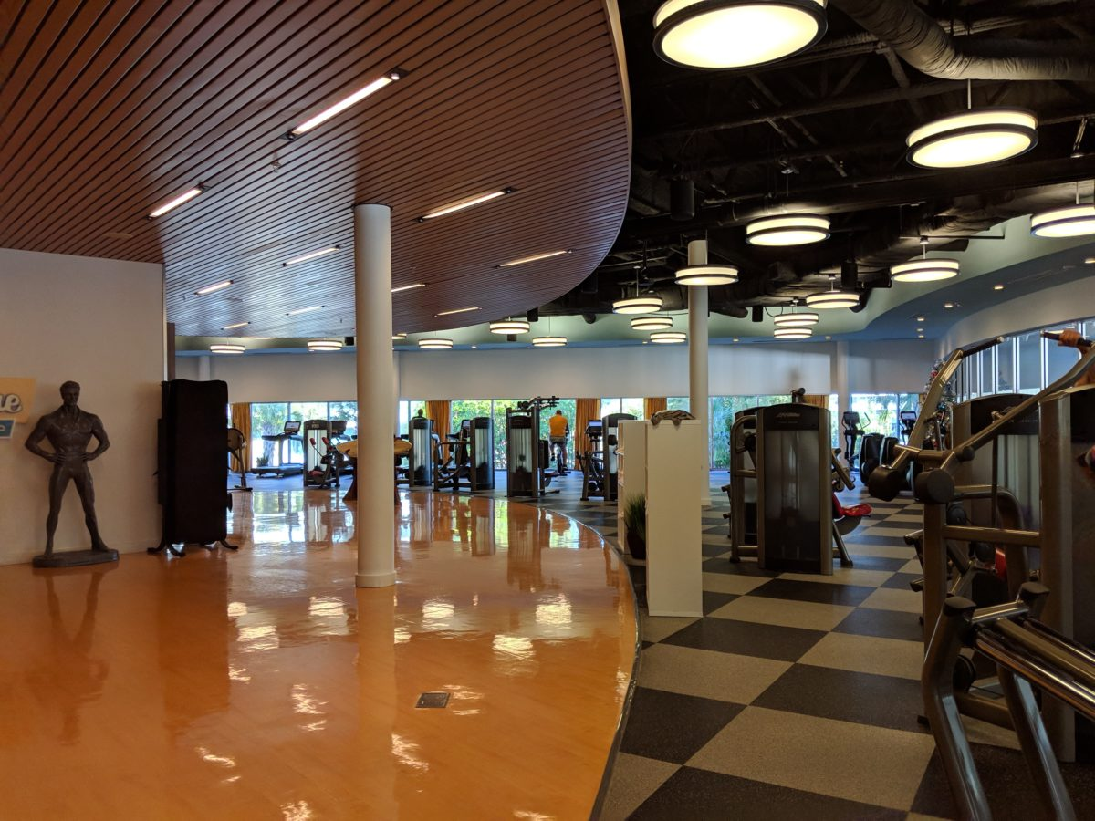 An advantage of staying on-site at Universal Orlando at Cabana Bay Beach Resort is the fitness center