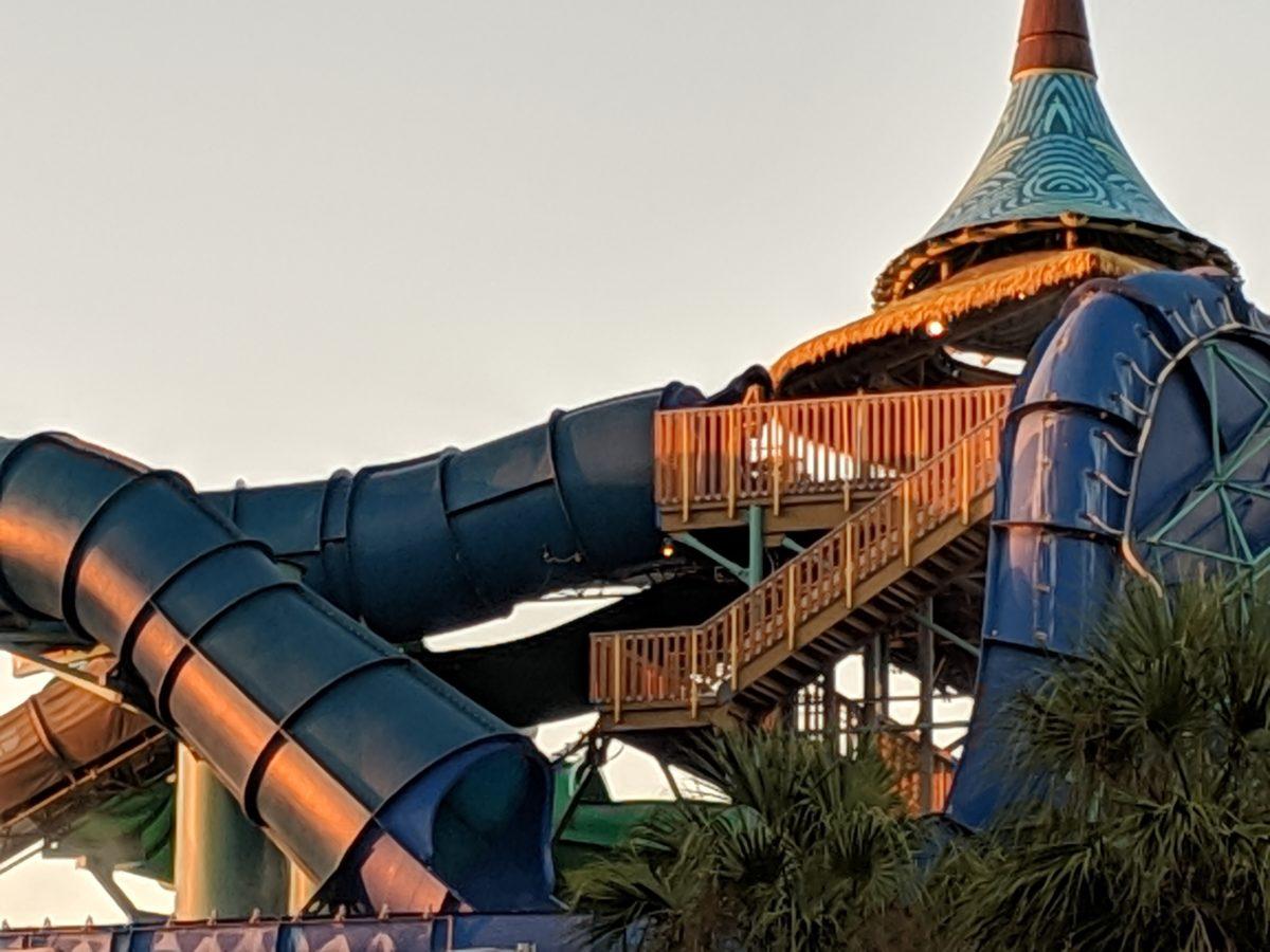 You can walk to Volcano Bay from Cabana Bay Beach Resort in Orlando Florida