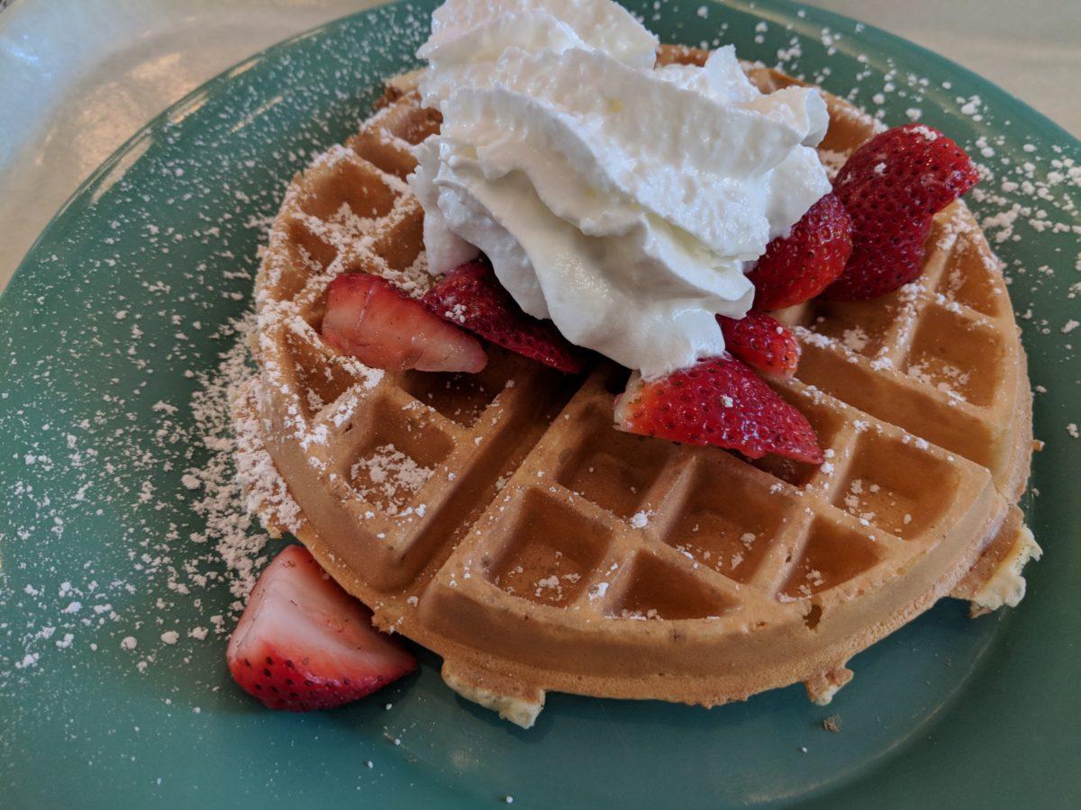 Cabana Bay part of Universal Orlando has delicious breakfast items like waffles