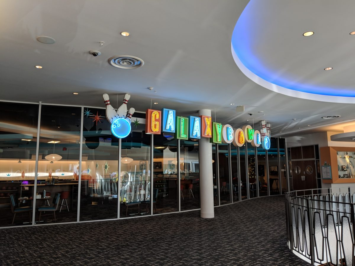 Cabana Bay is an on-site Universal Orlando hotel with a bowling alley guests can enjoy