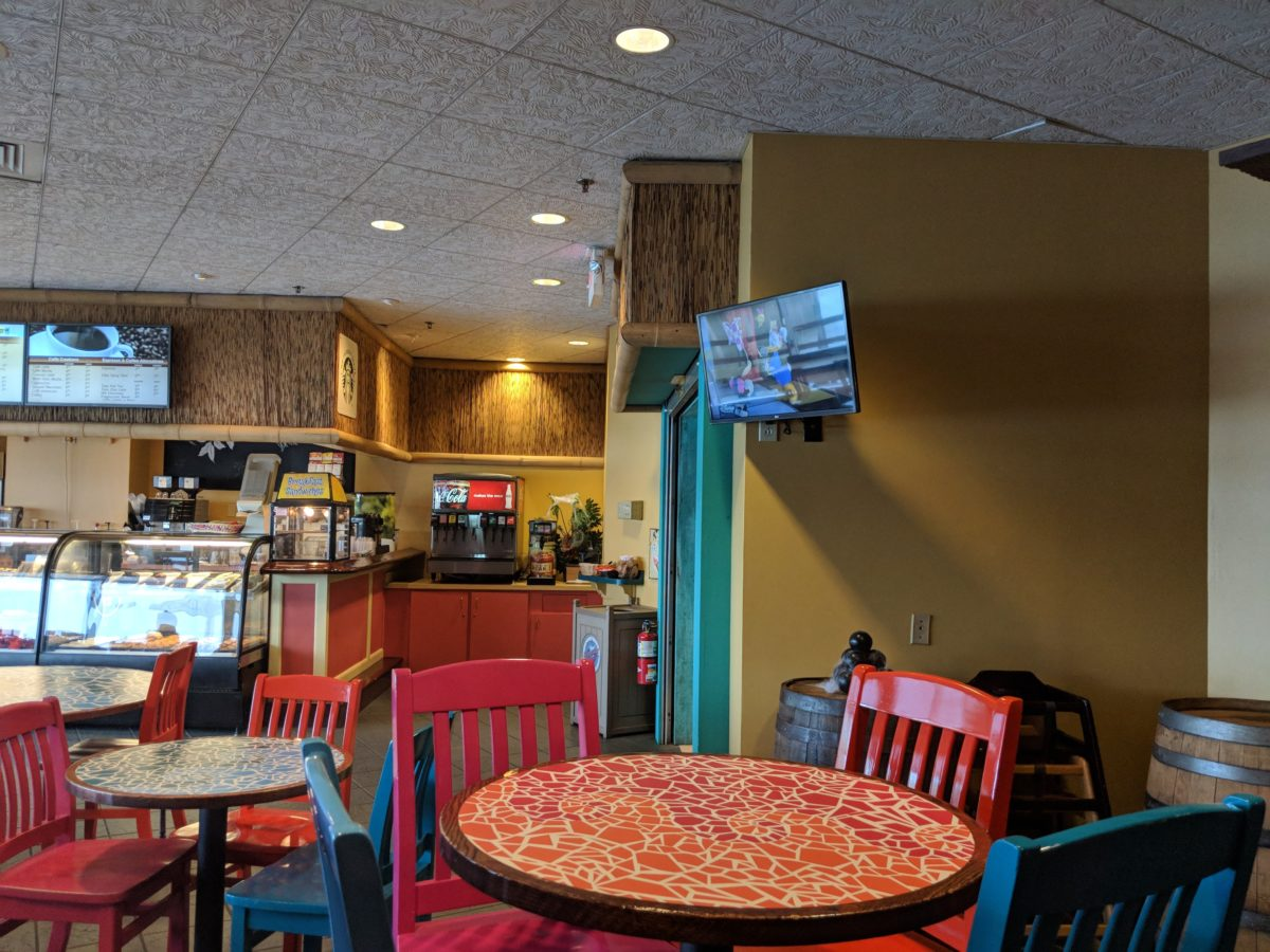 A picture of Ebb & Eddy's casual dining eatery at Cedar Point's Castaway Bay Resort