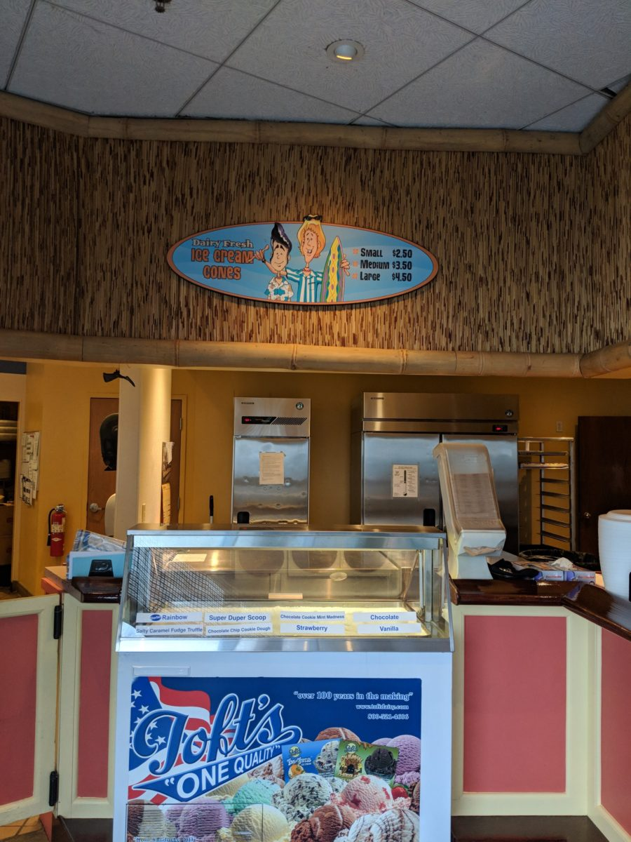 Cedar Point's Castaway Bay offers lots of food and ice cream options for hotel guests.