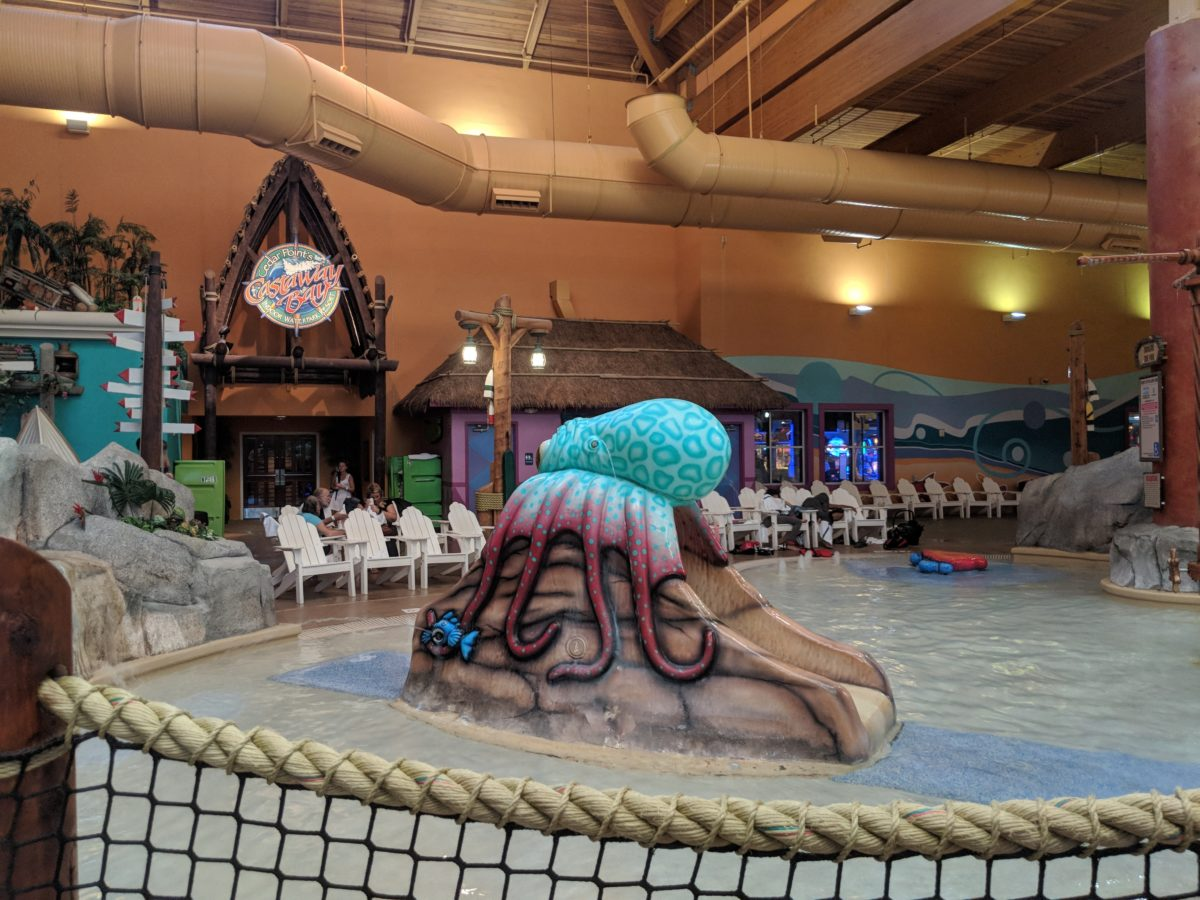 Water park at Castaway Bay Resort is fun for families with children