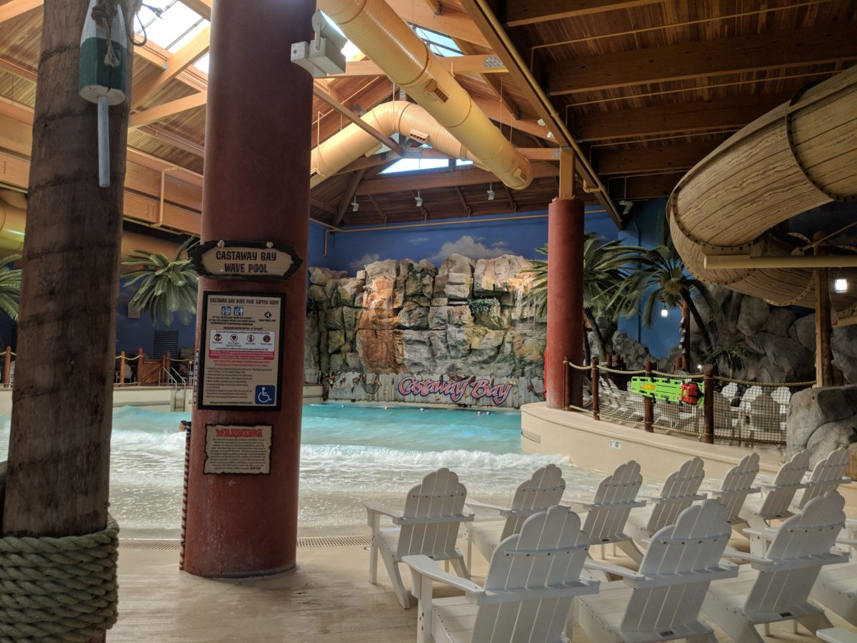 When you're not at Cedar Point, you can enjoy the water park at Castaway Bay hotel in Sandusky Ohio
