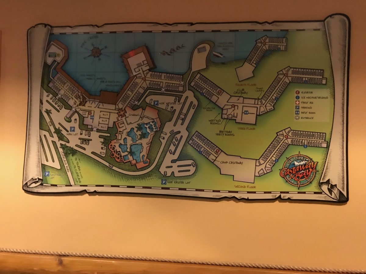 Castaway Bay Resort has a great layout where all rooms are connected