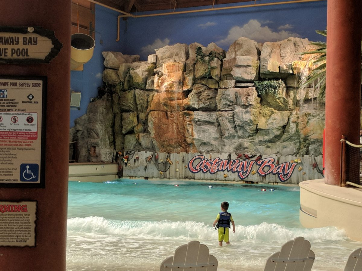 The wave pool at Castaway Bay Resort & Waterpark in Sandusky Ohio makes you feel like you're at a Caribbean beach