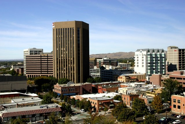 A picture of downtown Boise, Idaho. Find out what the best luxury hotels are there