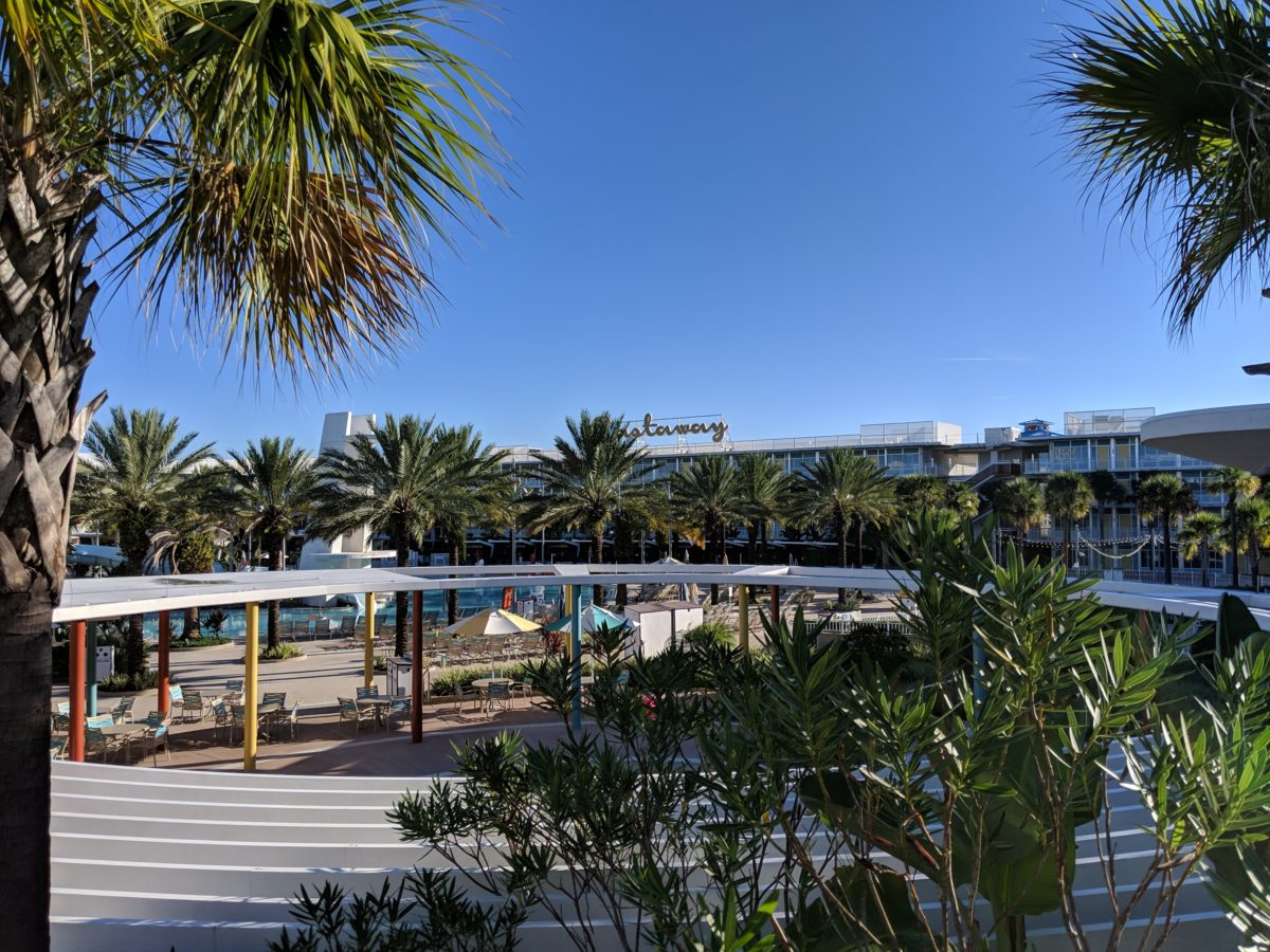 A picture of the Castaway section at Cabana Bay Beach Resort in Orlando Florida