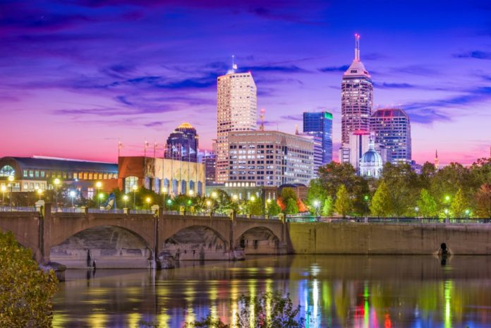Indianapolis, Indiana, USA skyline on the White River. Find out what the best Indy luxury hotels