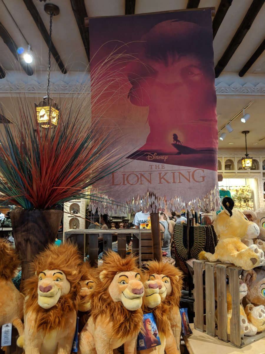 You can walk into gift shops at Disney World like this Animal Kingdom gift shop to avoid the heat