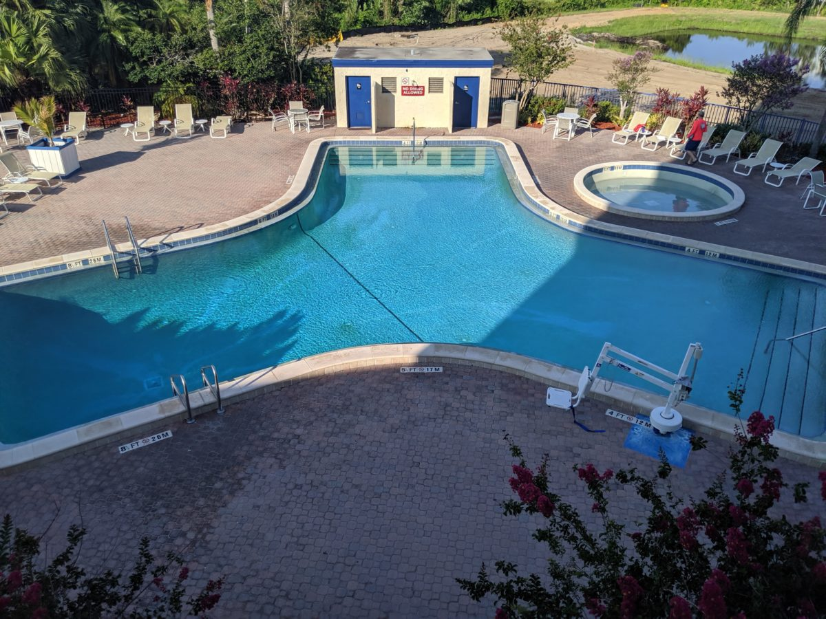 Disney's onsite affordable hotel Best Western has a great pool complex