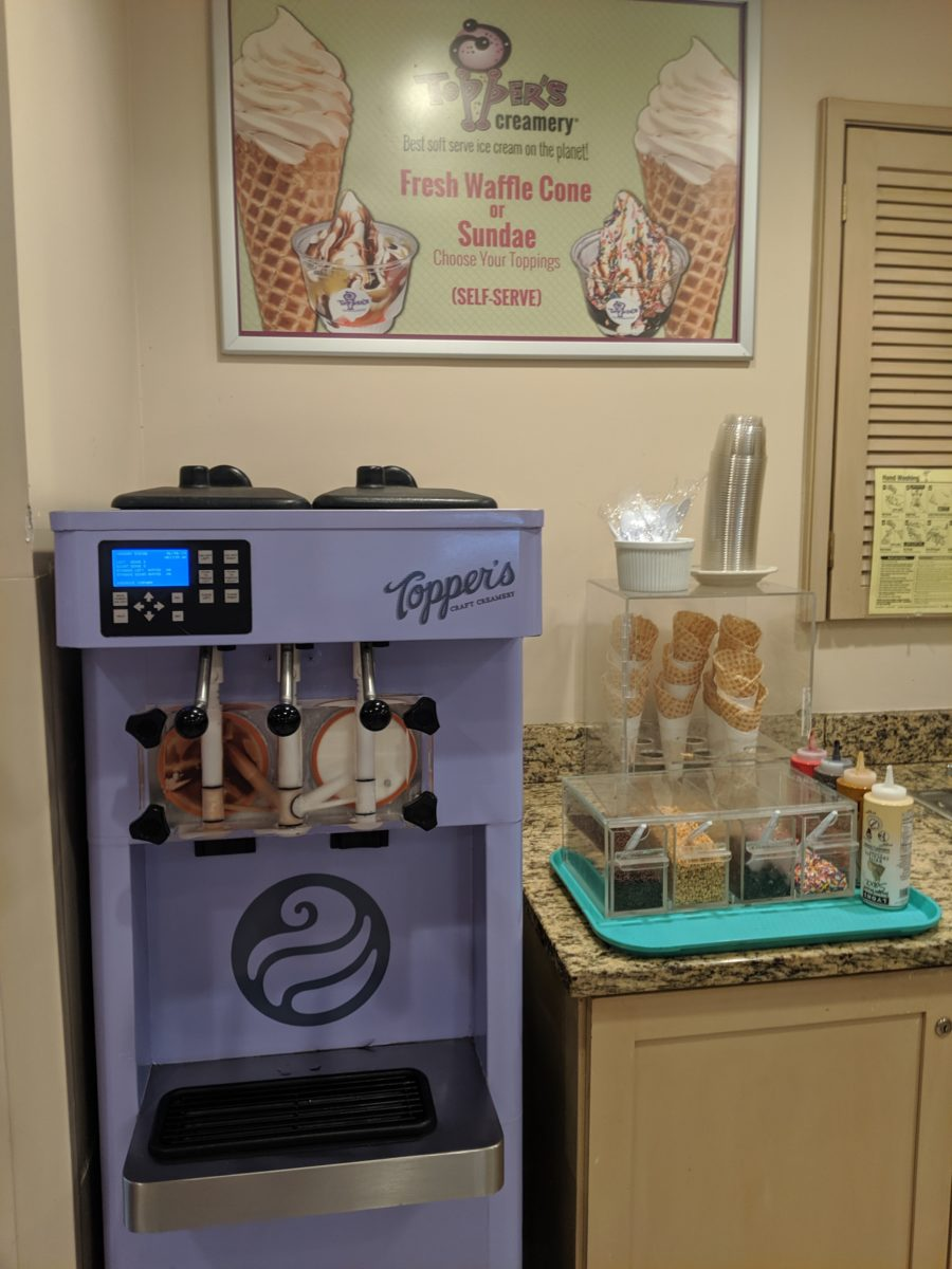 Make your own Sundaes with toppings at on-site DIsney World hotel, Best Western