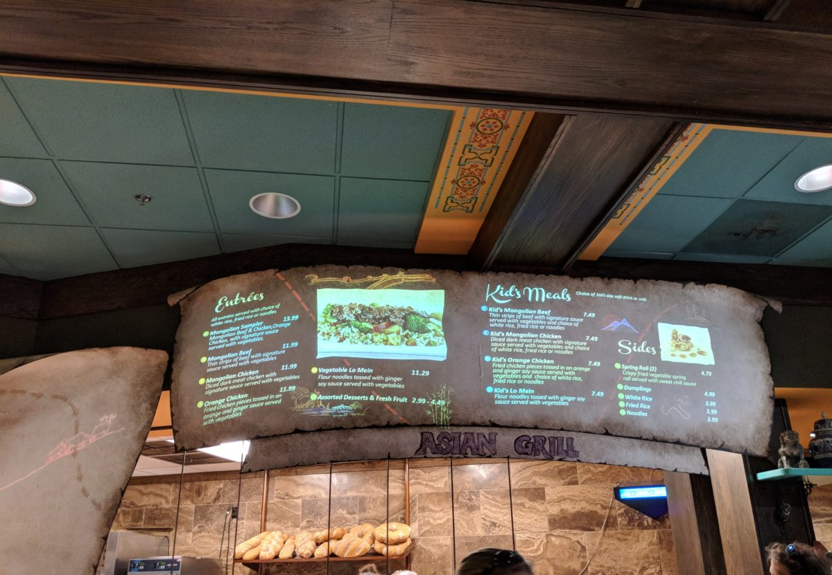 You can get a variety of cuisines such as Asian at Busch Gardens Virginia