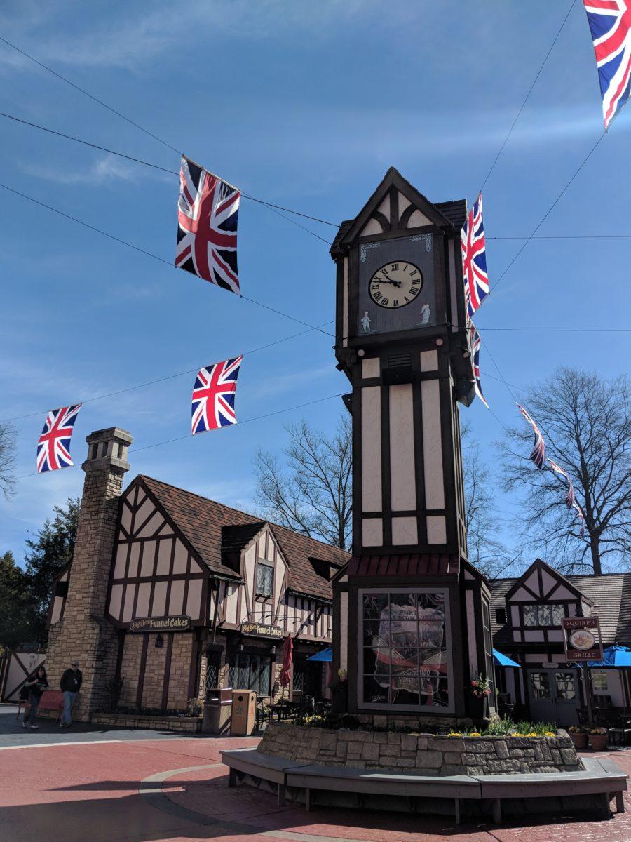 Busch Gardens theme park in Virginia has a European theme, including this English section