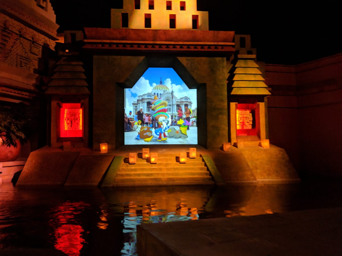 You can stay cool when visiting EPCOT at DIsney World in the summer by enjoy the Three Caballeros RIde