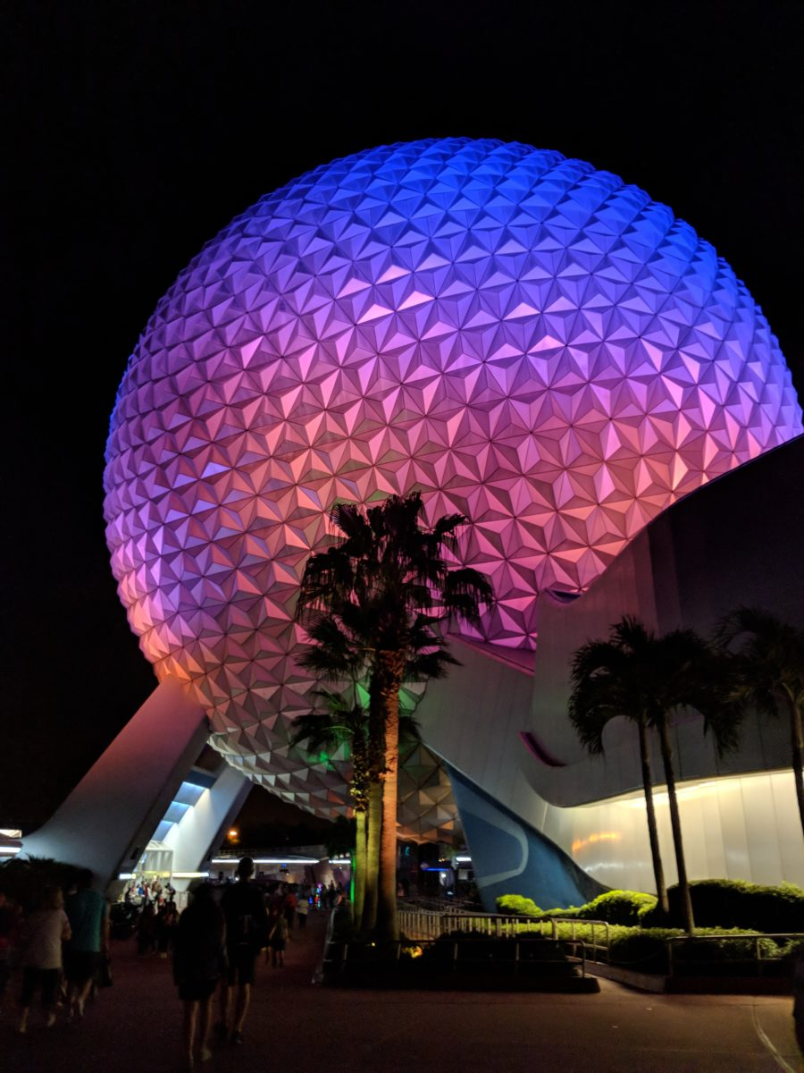 EPCOT at Disney World can get hot in the summer but you can avoid the heat by visiting the theme park at night