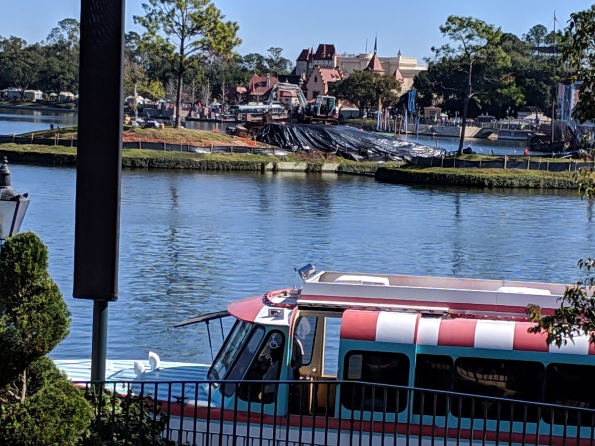 A way to stay cool when getting around the World Showcase at EPCOT in Disney World is to take a boat