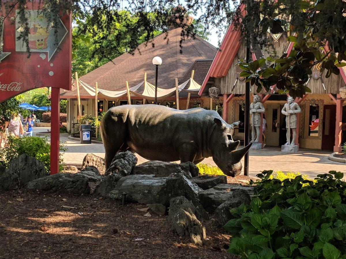 Fun exotic rides take place at Safari Village at Kings Dominion theme park