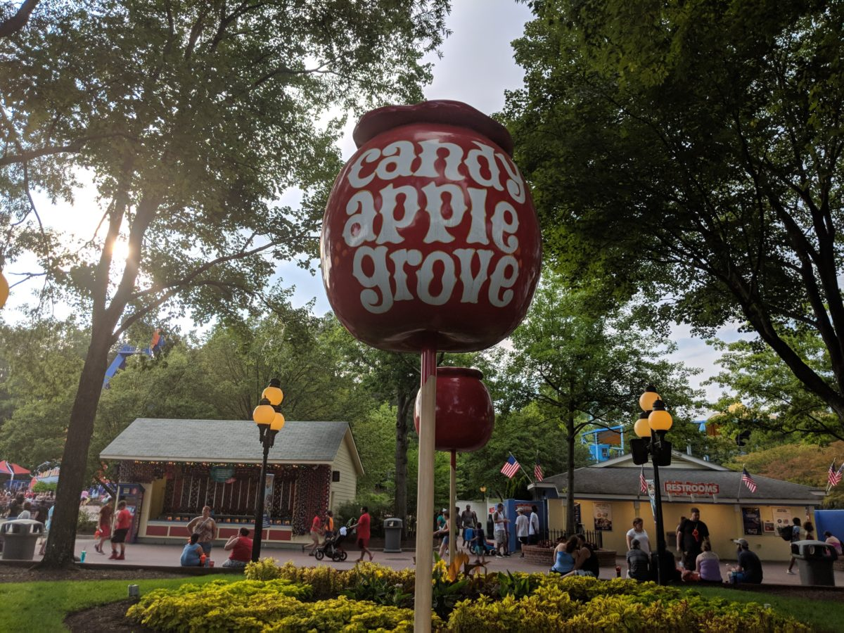 Candy Grove is one of the sections in Kings Dominion a Southern Virginia amusement park