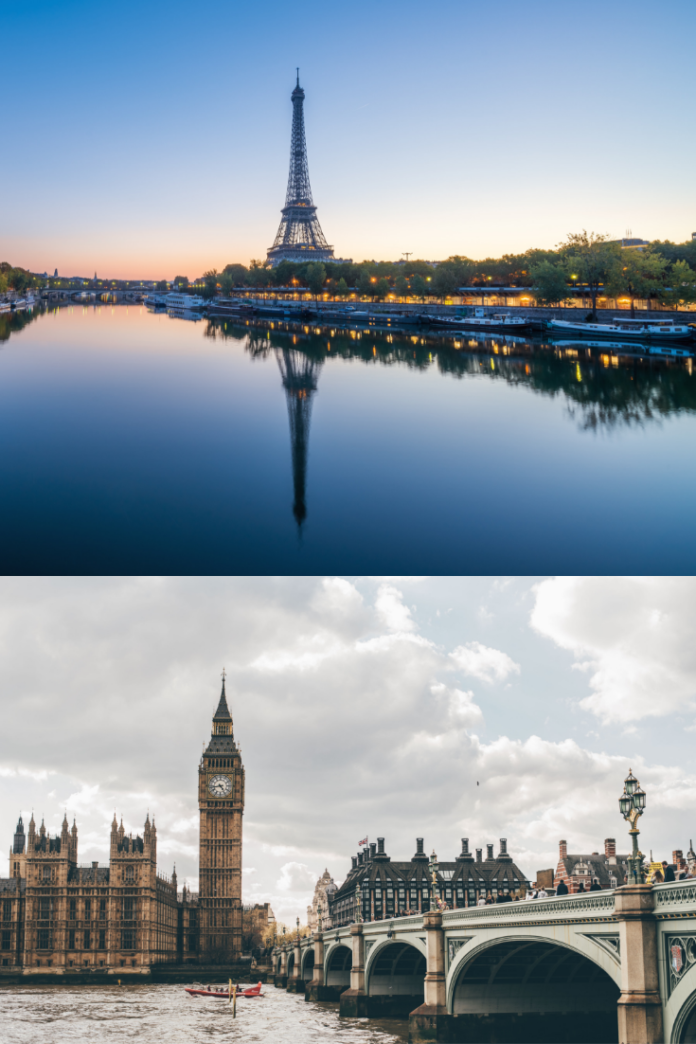 Up to 58% off hotels in Paris, France & London, England