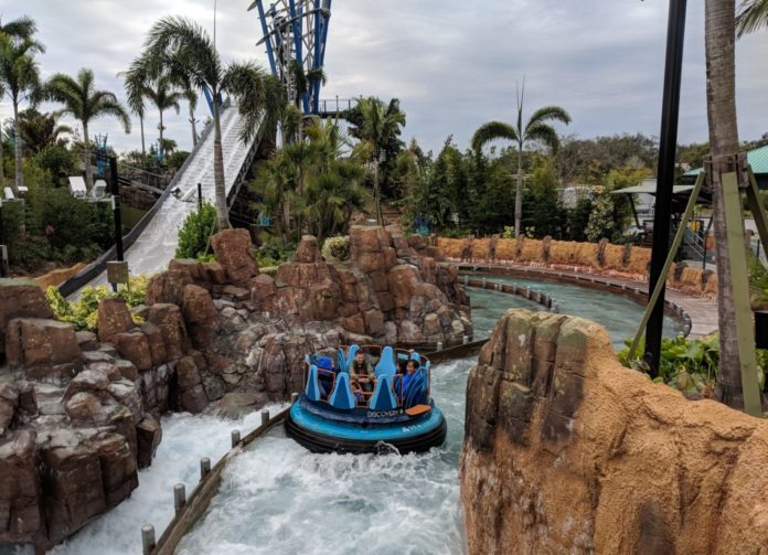 SeaWorld Orlando's newest thrill ride, Infinity Falls, is a great way too stay cool in the summer