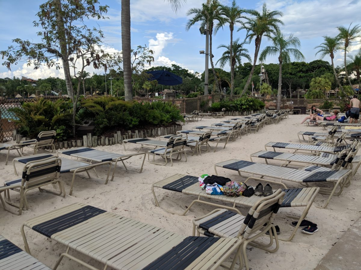 Escape the frentic pace of Disney World's other parks by laying out on the beach area of Disney's Typhoon Lagoon Water Park