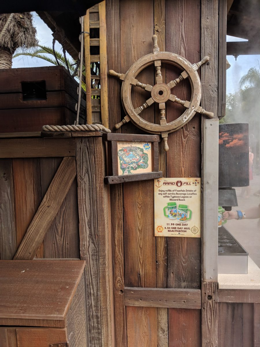 The rapid refill program at Typhoon Lagoon at Walt Disney World Resort is one of my favorite parts