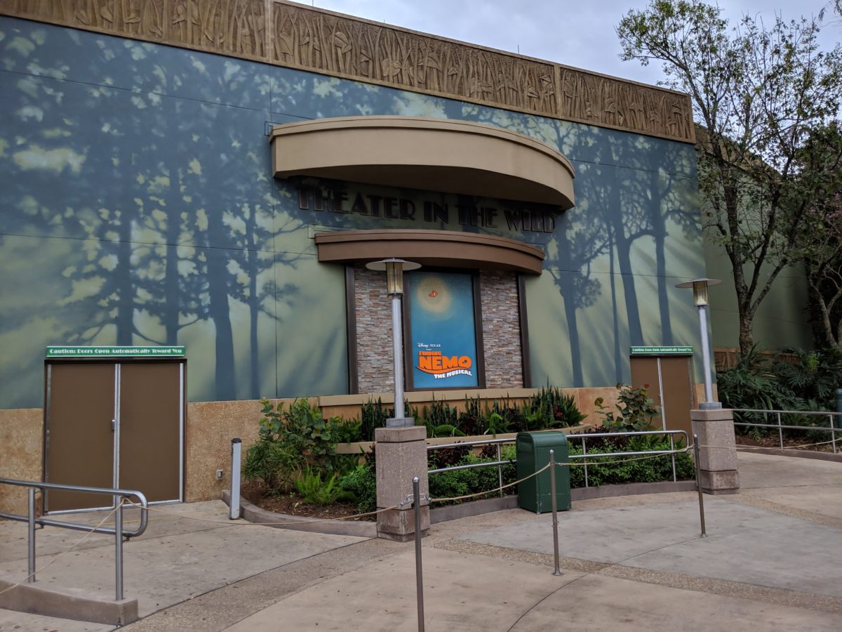 One way to avoid the heat at Dinoland USA at Walt Disney World's Animal Kingdom is going to the FInding Nemo musical show