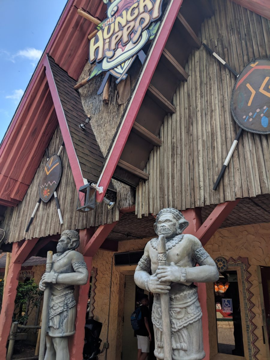 Kings Dominion has a lot of indoor restaurants which is great when it's hot in the summer