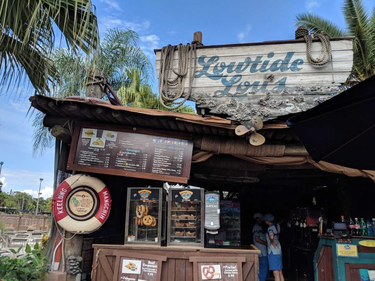 The food selection at Disney's Typhoon Lagoon is a plug of this Disney World park