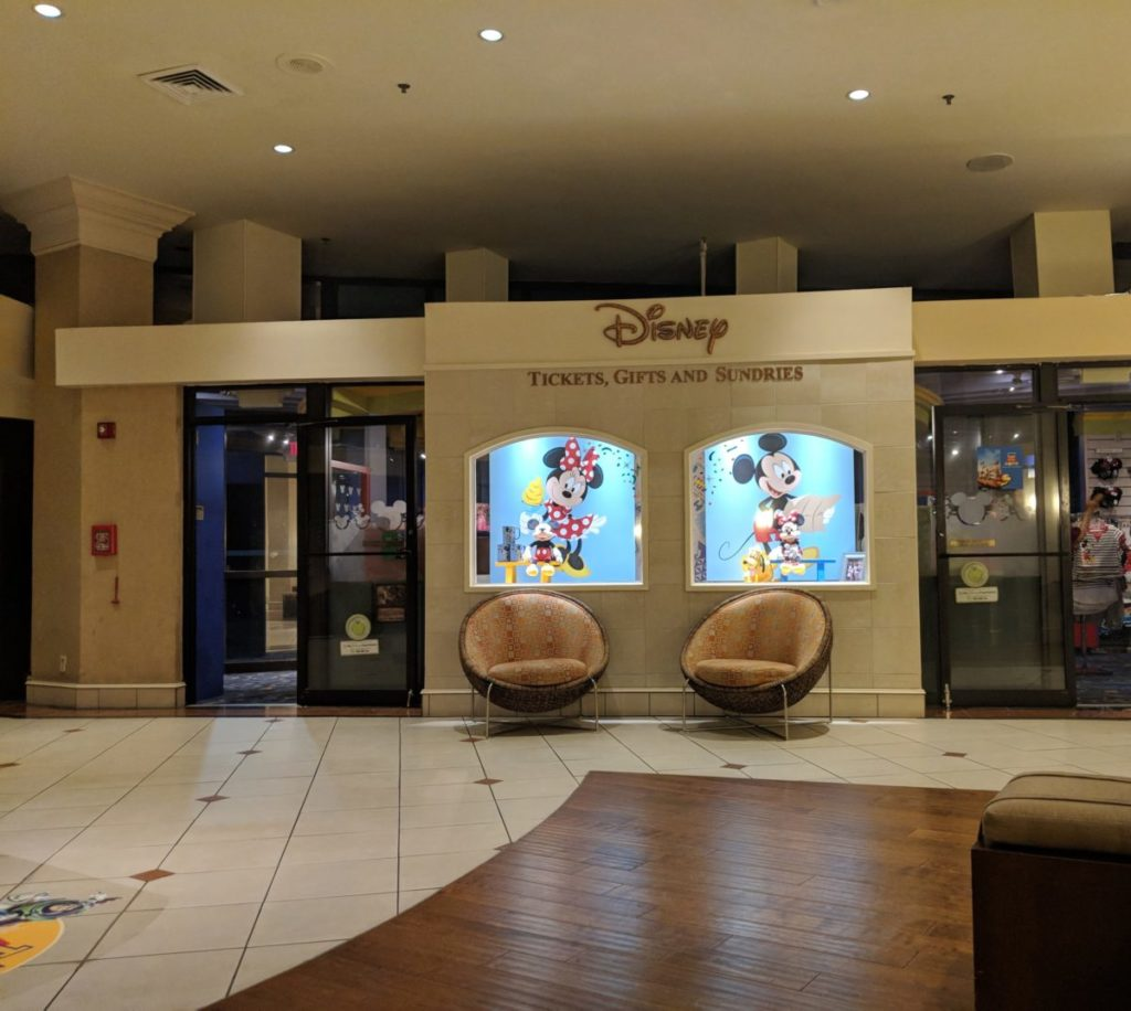 Mickey & Minnie Mouse are some of the highlights of the lobby at Best Western Lake Buena Vista Disney Springs