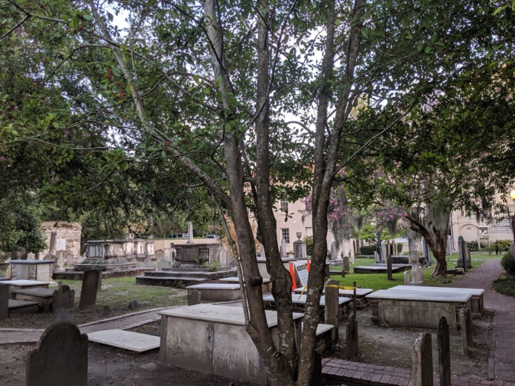 Visiting a graveyard is one of the great parts of the Charleston Macabre Ghost Walking Tour