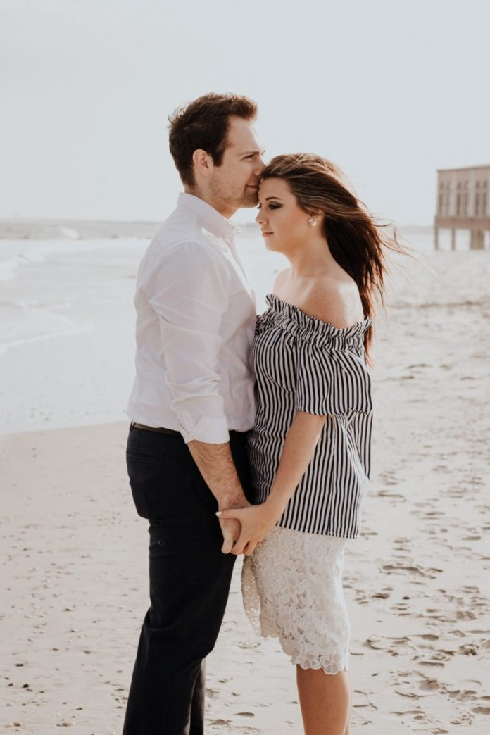 Picture of a couple in Ocean City. Find out the top romantic getaways in New Jersey.