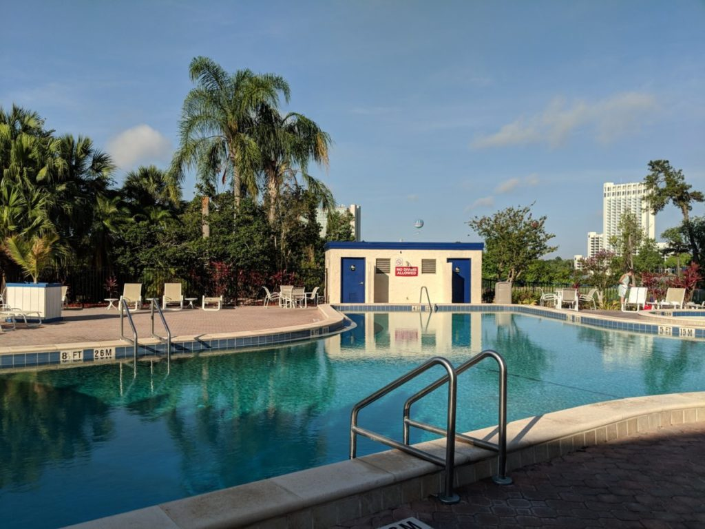 The beautiful pool available to guests at Best Western Lake Buena Vista Florida Disney Springs