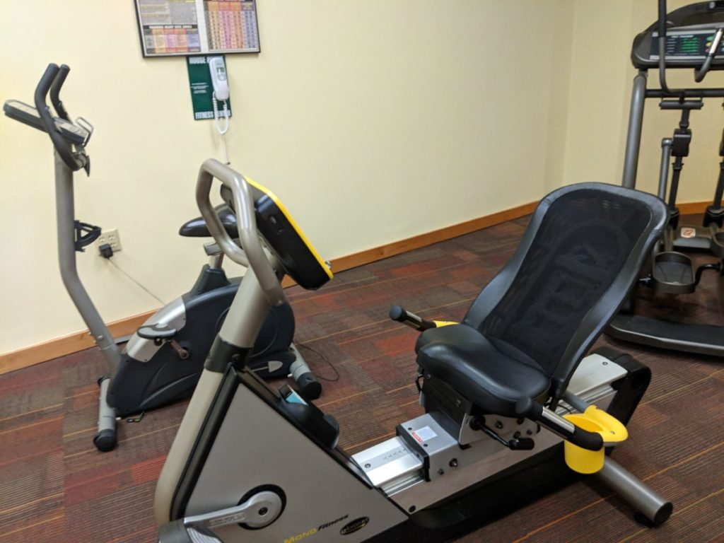 The Best Western at Disney Springs, part of Walt Disney World Resort in Orlando, Florida, has a nice fitness room for guests